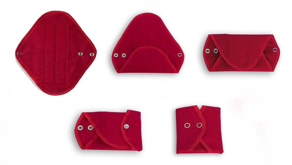 How to fold a wemoon reusable sanitary pad