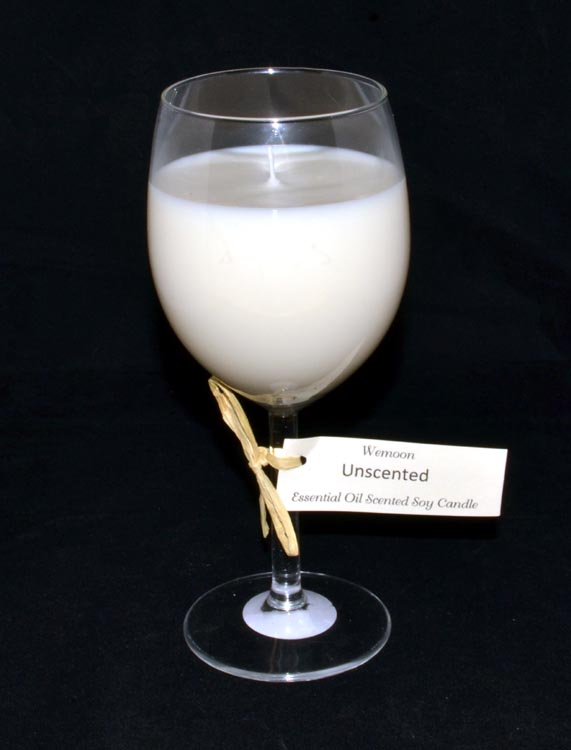 Wine Glass Candle :- Soy