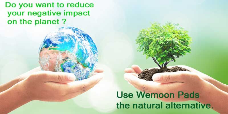 Wemoon natural pads save the earth