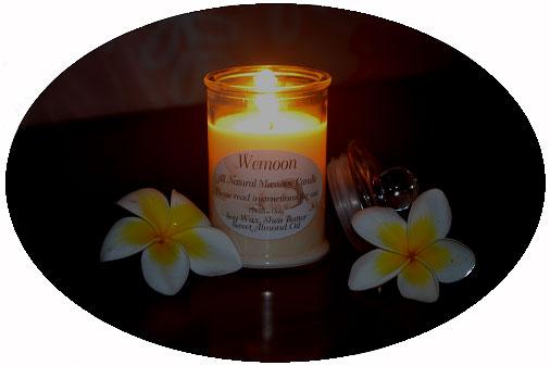 Wemoon Soy Massage Candle Lit